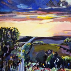 'Evening Light' Artist:  Janette Humble $140 (SOLD)