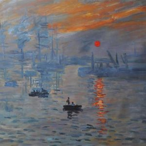 Claude Monet - Impression Sunrise (the painting that became the forerunner to the 'Impressionist Movement')